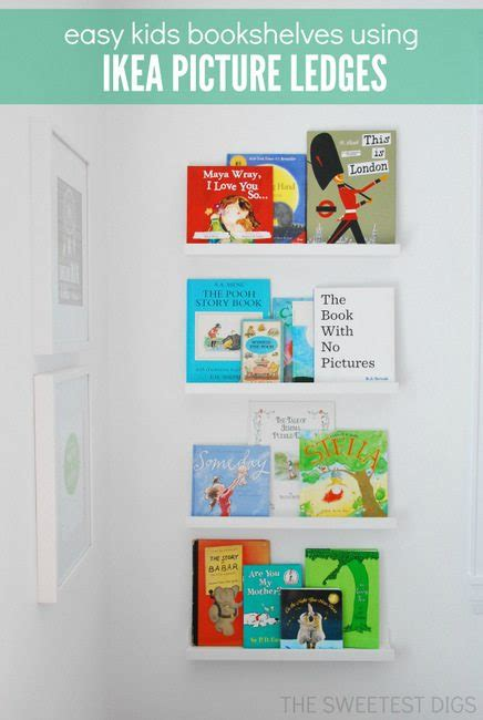 ikea picture ledge for books using ikea picture ledges as bookshelves in a nursery