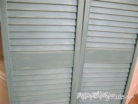 How To Paint Louvered Closet Doors by Repurposed Bi Fold Doors Duck Egg Blue Chalk Paint