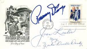 how to use doodle cast yankee doodle dandy cast day cover signed