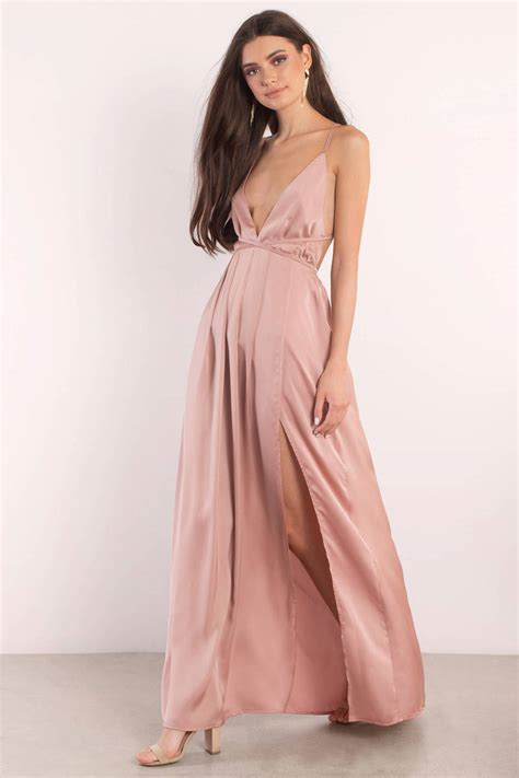 Dres Satin by Silver Dress Slit Dress Silver Satin Gown Maxi