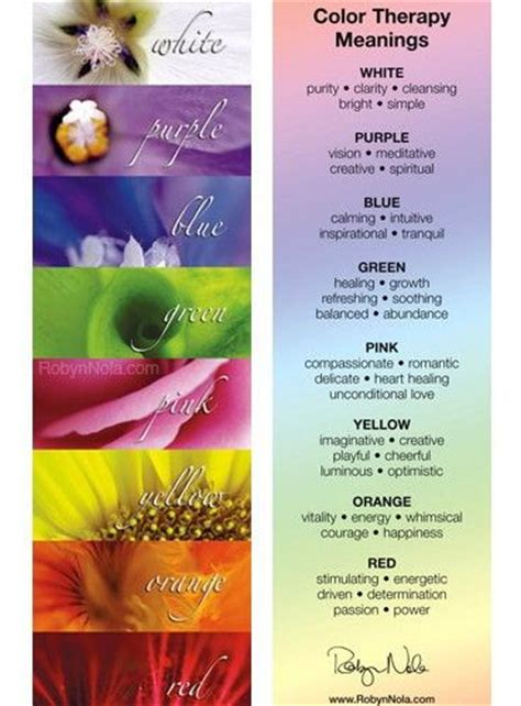healing colors color therapy bookmark therapy quotes affirmations and