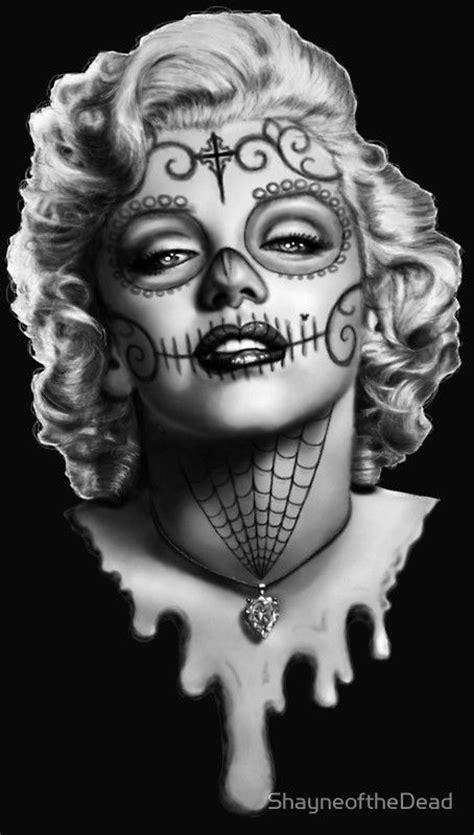 marilyn monroe skull tattoo skulls marilyn and sugar skull on