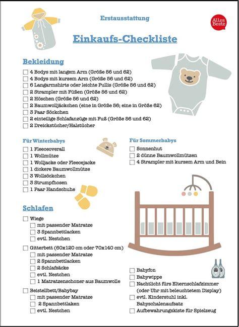 checkliste baby kinderzimmer erstausstattung was wirklich f 252 rs erste baby braucht