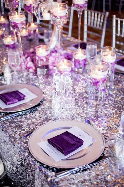 silver centerpieces for table 17 best ideas about purple and silver wedding on pinterest