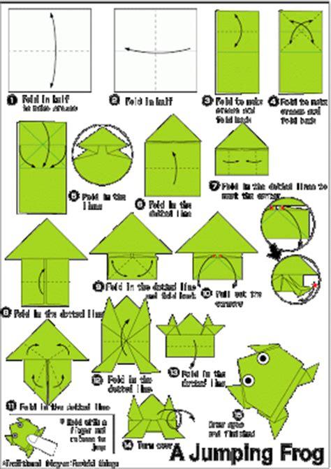 Katak Origami - origami katak step by step