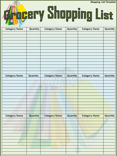 shopping list template menumealgrocerycoupon planningresourcesdiysprintables