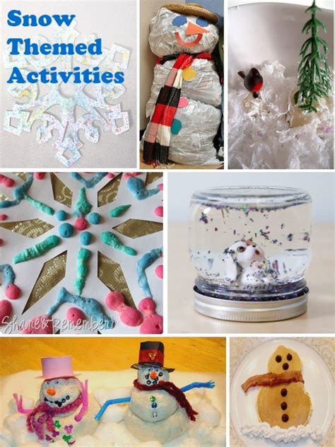 winter themed crafts for snow crafts 13 winter activities