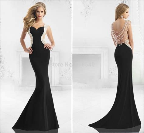 hairstyles for evening gowns 2015 xz 8 latest style sexy sheer back pearls beads mermaid