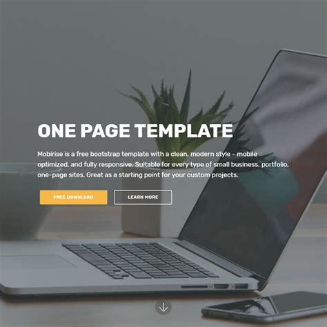 bootstrap one page template free bootstrap template 2018