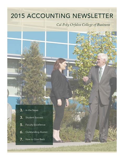 Graduated With 3 6 From Cal Poly Enough For Mba by Cal Poly Accounting Newsletter 2015 By Cal Poly S Orfalea