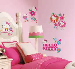 Hello Kitty Wall Decor Stickers hello kitty floral boutique wall decals girls stickers pink bedroom