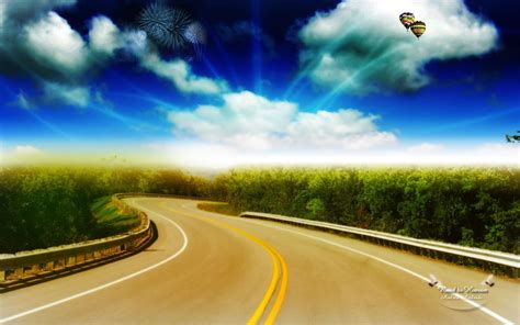 Landscape Photography Roads Landscape Photo Manipulation Road To Heaven Wallpapers