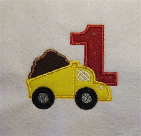 Dump Truck Color Work Embroidery by 54 Best Ideas About Baby Birthday Embroidery