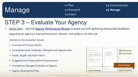agency management methodology
