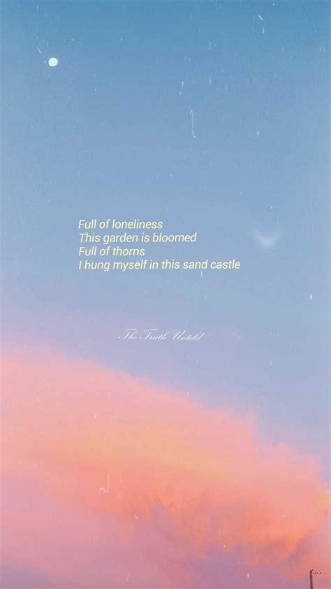 bts aesthetic wallpaper bts lyrics quotes bts wallpaper