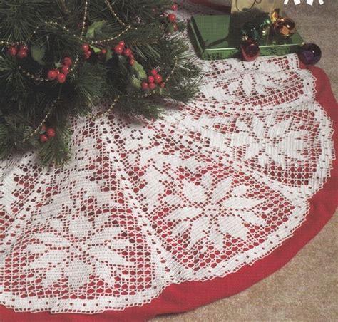 crochet pattern christmas tree skirt pictures of crocheted christmas skirts poinsettia