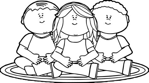 children coloring pages sitting on school rug coloring page