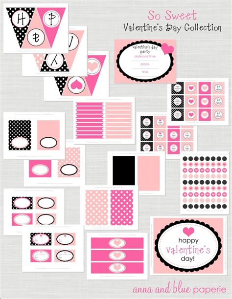 Free Printable Valentine Party Decorations | valentines day party ideas free printables
