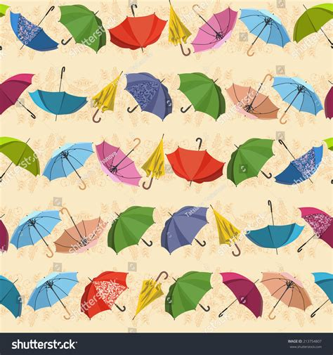 naturally playful leaf pattern umbrella umbrella seamless pattern with umbrellas and leaves on
