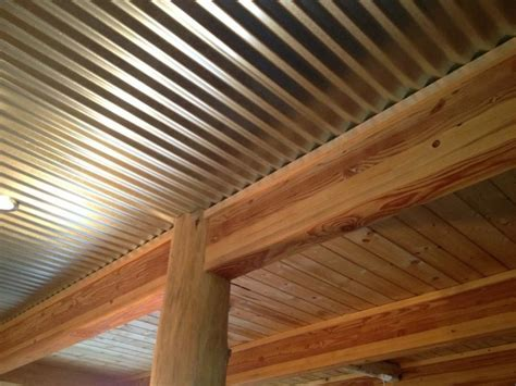 Corrugated Tin Ceiling by Green With Brown Curtains Galvanized Corrugated Metal
