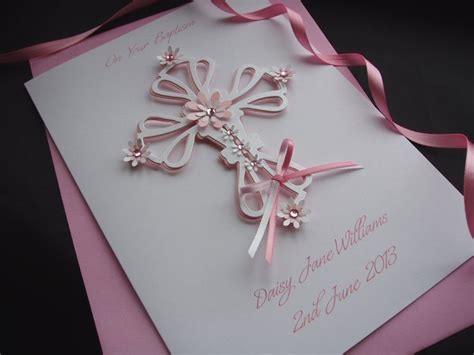 Handmade Baptism Cards - luxury handmade christening cards pinkandposh co ukpink