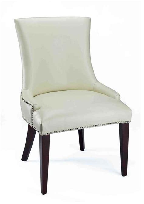 White Leather Dining Room Chair white leather dining room chairs home furniture design