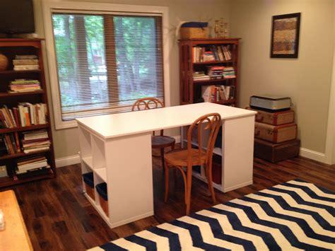 project table   kallax shelves   galant