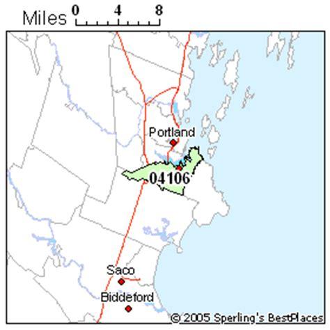zip code map maine portland zip code map