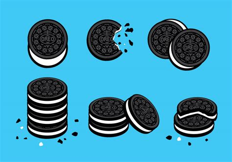 oreo pattern vector oreo cookies vector download free vector art stock