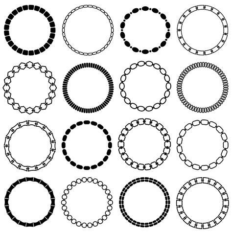 mod black chain circle frames   vectors