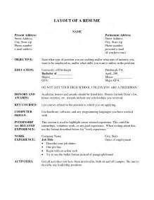 Example Resume Template Layout by Best Photos Of Layout Of A Cv Examples Free Resume