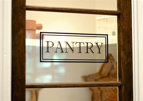 Pantry Decal For Door by Pantry Vinyl Decal Pantry Door Decal Glass Door Decal Vinyl