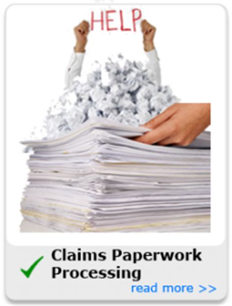 insurance claims paperwork processing home commercial