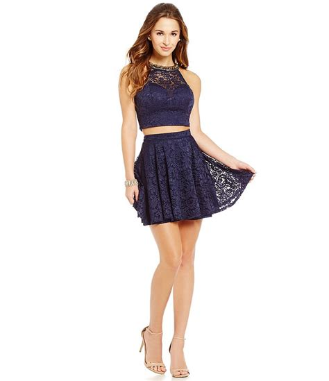 Dress Of The Day B With G Baby Doll Dress 2 b darlin beaded high neck lace two dress dillards