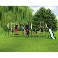 metal swing sets sears sportspower adventure play ii 9 play metal backyard swing