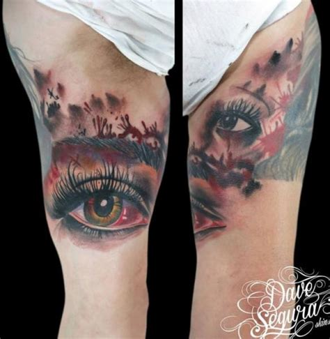 eyeball armpit tattoo arm realistic eye tattoo by bonic cadaver