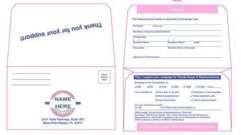 Caign Envelopes For Donations Netbankstore Com Political Contribution Envelopes Templates