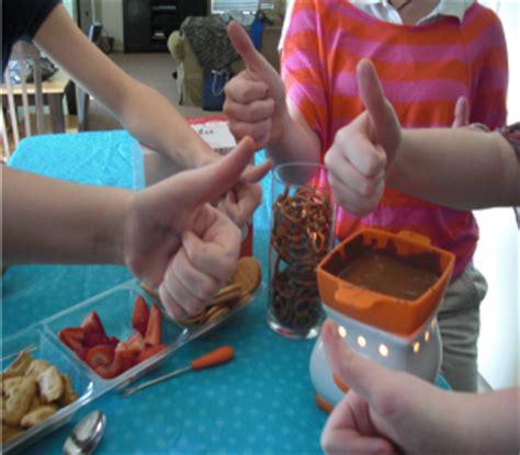Giveaway Ideas For Kids - velata chocolate fondue giveaway