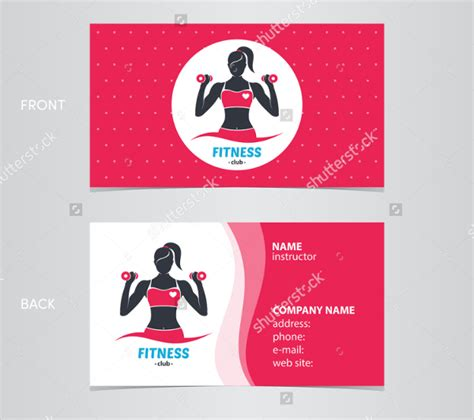 Fitness Gift Card Template - fitness business card v1 by totopc graphicriver fitness business card design vector