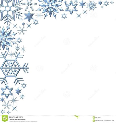 snowflake clipart snow clipart corner border pencil and in color snow