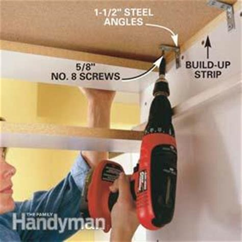 attach countertop to cabinet how to install a countertop the family handyman