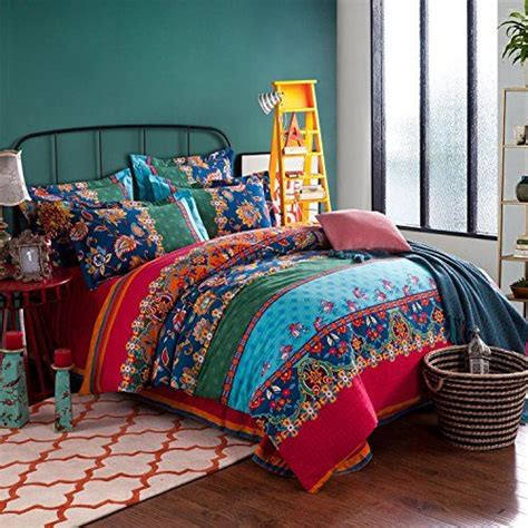 bohemian bedding sets lelva boho style bedding set bohemian ethnic style bedding