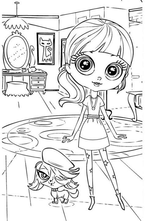Miss Pet Shop Coloring Pages miss pet shop coloring pages coloring home