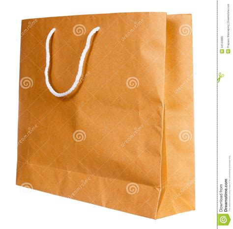 Simple Paper Bag - simple browse recycled paper bag royalty free stock photo