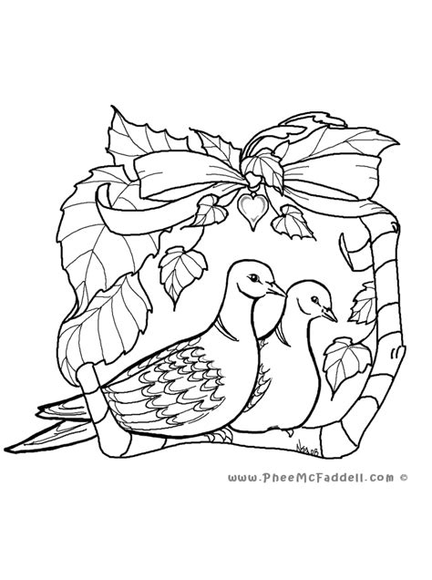 Turtle Dove Template by Turtle Dove Coloring Page Two Doves Grig3 Org