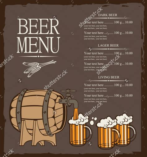 beer menu template 14 free psd eps documents download
