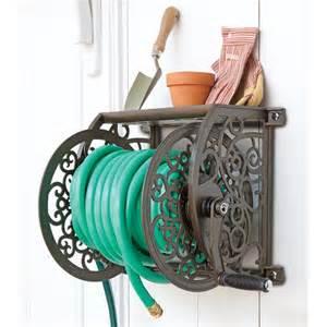 decorative hose reel decorative wall mount cast aluminum hose reel liberty