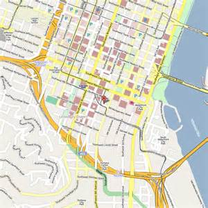 Portland Downtown Map by Downtown Portland Map Images