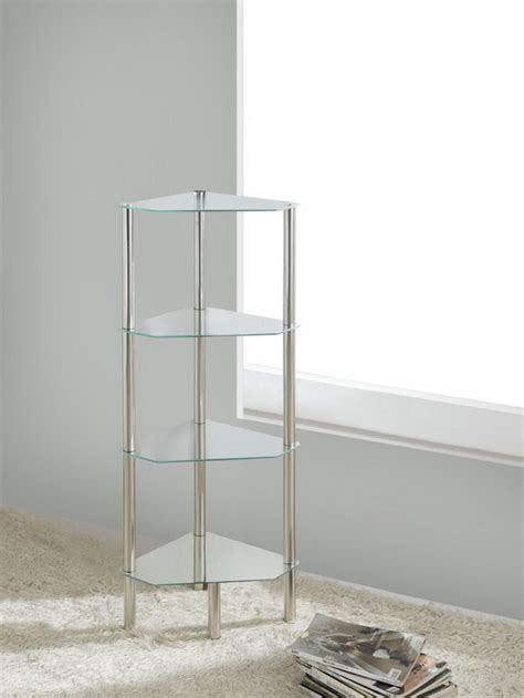 bathroom table stand 4 tier triangle glass stand coffee table bathroom clear