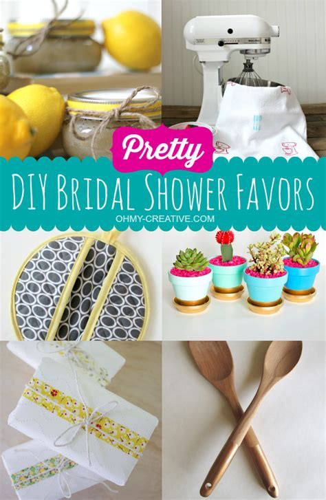 wedding shower favors diy pretty diy bridal shower favors oh my creative